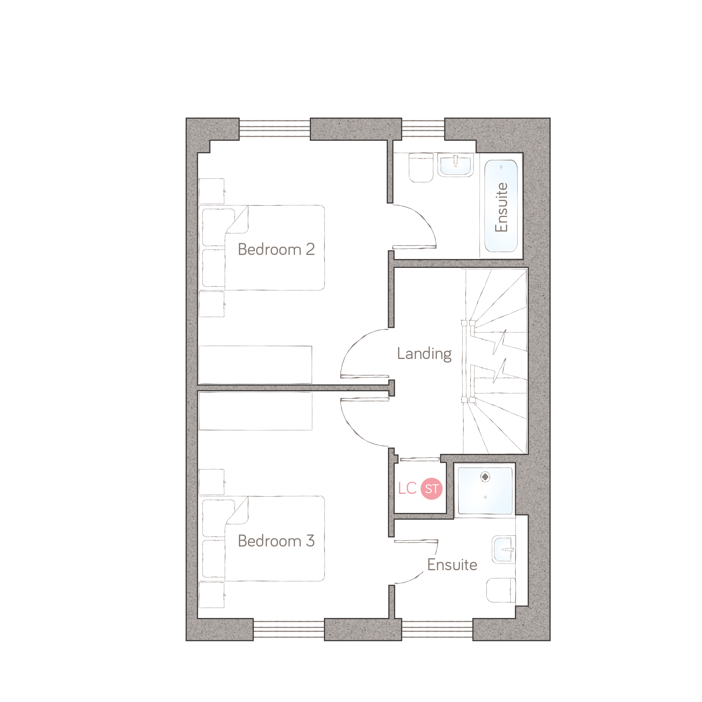 first floor – all-ensuite option