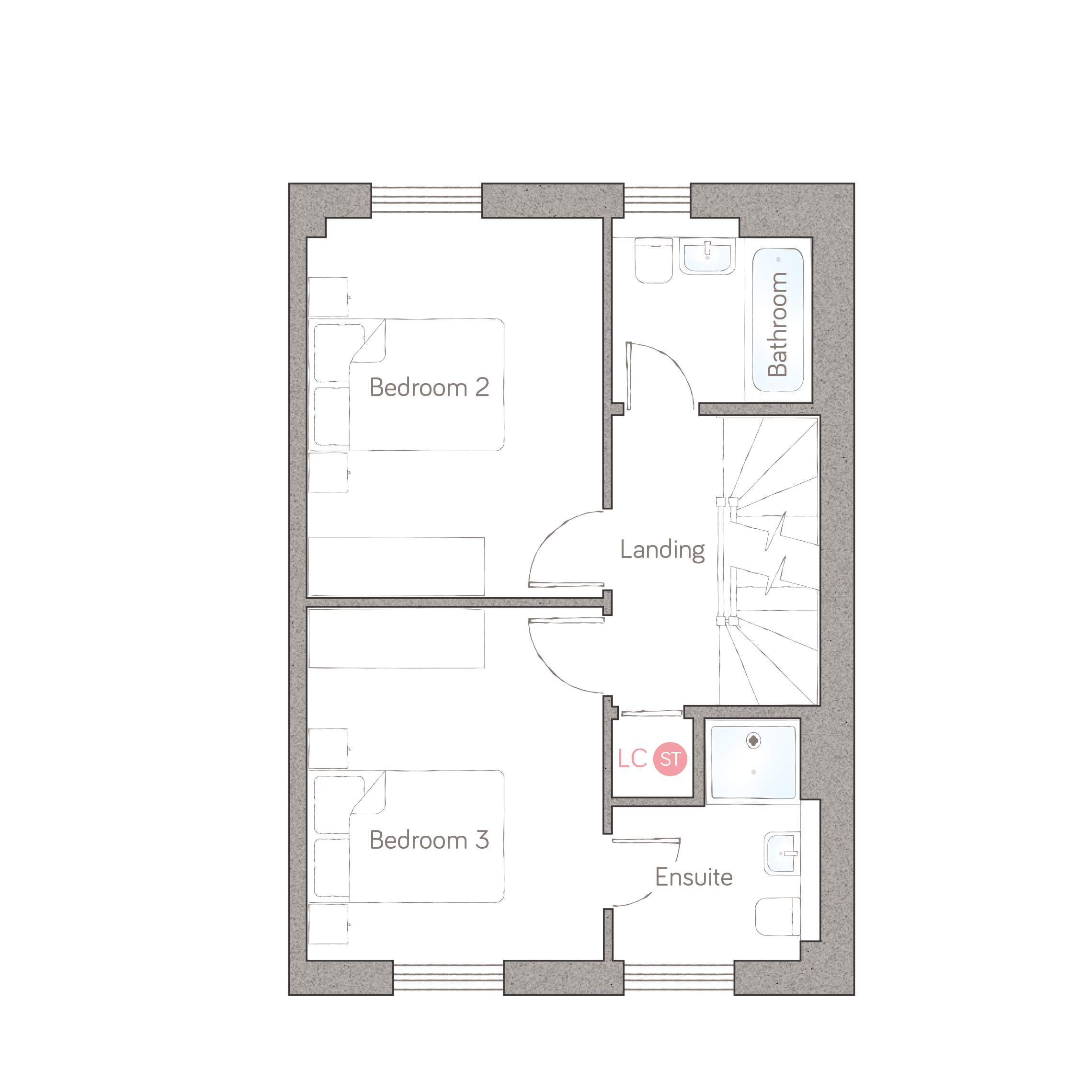 first floor – family bathroom option
